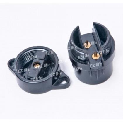 B22 Wedge Lamp Holder (Black)