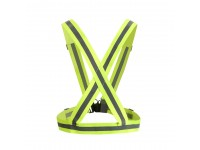 Elastic Reflective Safety Belt Vest For Cycling Jogging Outdoor Activities High Visibility LittleThingy