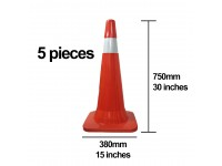 5pcs 30 Inches Road Safety Cone Picasaf Traffic Cone (750mm height) Kon Selamatan Jalan Raya LittleThingy