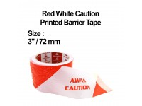 "3"" / 72mm Red White Caution Printed Barrier Tape Hazard Warning Safety Tape LittleThingy"