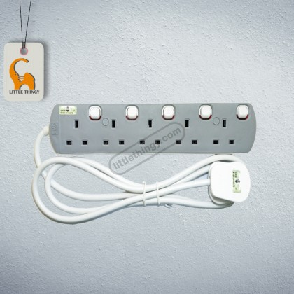 5 Gang UMS Extension Socket With Neon Light (Sirim Approved)