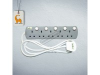 5 Gang / Point Trailing Switch UMS Extension Socket with Neon Light Sirim Approved LittleThingy