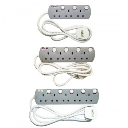 3 Gang UMS Extension Socket With Neon Light (Sirim Approved)
