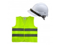 Proguard Safety Helmet White Colour SIRIM And Reflective Vest for Construction Industry Site Work Topi Keselamatan Putih Dan Jacket LittleThingy
