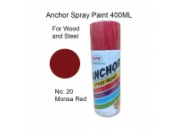 # 20 Monsa Red Standard Colour 400ml For Wood Metal and Concrete Anchor Brand Aerosol Spray Paint LittleThingy