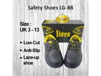 Low Cut Safety Shoes Boots Tiger LG88 For Construction Site / Factory / Kitchen / Building Maintenance Tiger LG-88 Black Kasut Keselamatan Site LittleThingy