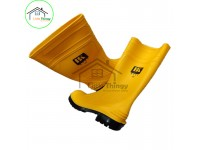LittleThingy Yellow Rain Boots / Rubber Shoes with Steel Toe & Steel Plate (9153)
