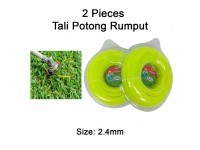 2 Rolls Nylon Mowing Rope / Grass Trimmer Line 67m x 2.4mm x 1lb For Garden / Grass Cutting ( 2 Pax ) LittleThingy