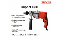 Sencan DIP-20 Impact Drill 521305 for Drilling Steel / Wood and Screw Driving LittleThingy