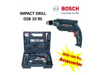 LittleThingy Bosch Impact Drill GSB 10 RE With 100 pcs Accessories