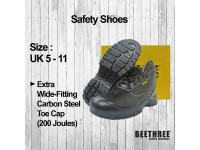 Lace-up Ankle Boot Shoes Safety (UK 4 - 13) Bee Three Boots Footwear BT-8832 Kasut Keselamatan LittleThingy