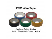 PVC Wire Tape (Black/Red/Green/Yellow/Blue) 1 Piece 0.12mm x 18mm x 5 Meters Electrical Insulating Adhesive Tape LittleThingy