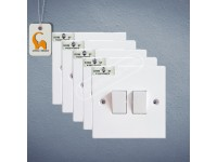 5Pcs UMS 2 Gang 1 Way Flush Switch 10A (SIRIM Approved) UMS 202 LittleThingy