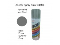 # 5 Primer Surfacer Grey Undercoat Colour 400ml For Wood Metal and Concrete Anchor Brand Aerosol Spray Paint LittleThingy