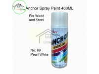 # 69 ★★ Pearl White Premium Colour 400ml For Wood Metal and Concrete Anchor Brand Aerosol Spray Paint LittleThingy