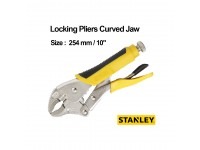 Stanley Locking Pliers Curved Jaw 254mm / 10 Inches With Bi-Material Handle 84-369 LittleThingy
