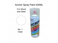 # 1 Clear Colour 400ml For Wood Metal and Concrete Anchor Brand Aerosol Spray Paint LittleThingy
