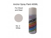 # 2 White Colour 400ml Wood Metal Concrete Plastic Anti Rust Aerosol Spray Paint LittleThingy