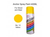 # 12 Yellow Colour 400ml For Wood Metal and Concrete Anchor Brand Aerosol Spray Paint LittleThingy