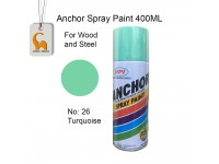Anchor # 26 Turquoise Colour 400ml Wood Metal Concrete Plastic Anti Rust Aerosol Spray Paint LittleThingy