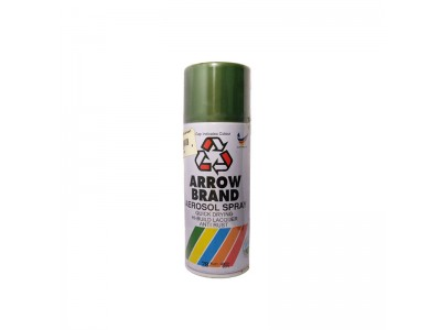 # 28 Flat Green Colour 400ml Wood Metal Concrete Plastic Anti Rust Aerosol Spray Paint LittleThingy