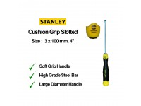 Stanley 3 x 100mm 4 Inches Cushion Grip Screwdriver Slotted Flat Screw Driver 65-181 STMT60818 LittleThingy