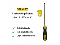 Stanley 8 x 200mm 8 Inches Cushion Grip Screwdriver Slotted Flat Screw Driver 65-197 STMT60832 LittleThingy