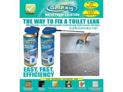 Toilet Water Proof Solution Galaxy GWS400 For Water Leaking On Tiles Floor or Wall LittleThingy
