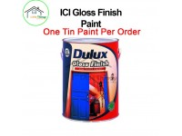 LittleThingy 5L ICI Dulux Black (122) Colour Gloss Finish For Metal or Wood Surface Untuk Kayu Atau Besi