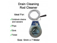 Drain Cleaning Rod Cleaner 5mm x 7 meter Toilet Kitchen Tandas Sinki Sumbat LittleThingy