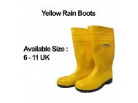 Picasaf 9153 Safety Boots Yellow Rubber Boot Shoes / Rain Boots with Steel Toe & Steel Plate LittleThingy