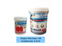 1L Undercoat Water Based Wall Sealer Dolphin 100 Exterior & Interior White Colour LittleThingy