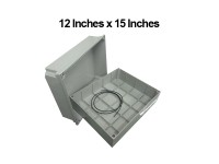12 Inches x 15 Inches (300mm x 380mm x 178mm) Waterproof PVC Electric / Weatherproof Electronic Project Enclosure Junction Box / Case LittleThingy