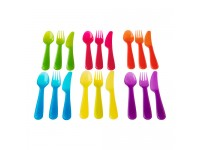 LittleThingy Cutlery Set (Assorted Colour) - 6 Sets for Kids