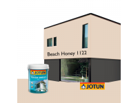 LittleThingy 1122 Beach Honey 5L Jotun Essence Tough Shield Matt Exterior Wall Paint Outdoor Cat Dinding Luar Rumah
