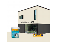 LittleThingy 1574 Old Lace 5L Jotun Essence Tough Shield Matt Exterior Wall Paint Outdoor Cat Dinding Luar Rumah