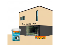 LittleThingy 1966 Teal Beige 5L Jotun Essence Tough Shield Matt Exterior Wall Paint Outdoor Cat Dinding Luar Rumah