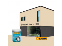 LittleThingy 1038 Smooth Ivory 5L Jotun Essence Tough Shield Matt Exterior Wall Paint Outdoor Cat Dinding Luar Rumah