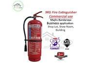 Flammart 9kg ABC Dry Powder Fire Extinguisher C/W Bomba Certificate Pemadam Api (SIRIM Approved) LittleThingy