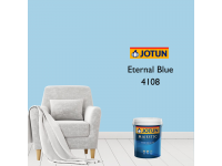 4108 Eternal Blue 1L Jotun Majestic True Beauty Sheen Anti Bacteria & Anti Fungal Interior Wall Paint Indoor Cat Dinding Kilat Dalam Rumah LittleThingy