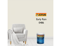 0486 Early Rain 1L Jotun Majestic True Beauty Sheen Anti Bacteria & Anti Fungal Interior Wall Paint Indoor Cat Dinding Kilat Dalam Rumah LittleThingy