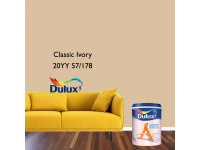 LittleThingy 20YY 57/178 Classic Ivory 5L Dulux Ambiance Pearl Glo Interior Wall & Ceiling Mid Sheen Finish Indoor Mix Paint Cat Dinding Kilat