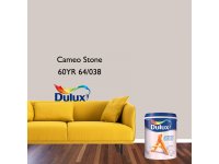 LittleThingy 60YR 64/038 Cameo Stone 5L Dulux Ambiance Pearl Glo Interior Wall & Ceiling Mid Sheen Finish Indoor Mix Paint Cat Dinding Kilat