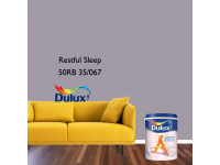 LittleThingy 50RB 35/067 Restful Sleep 5L Dulux Ambiance Pearl Glo Interior Wall & Ceiling Mid Sheen Finish Indoor Mix Paint Cat Dinding Kilat