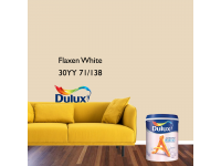 LittleThingy 30YY 71/138 Flaxen White 5L Dulux Ambiance Pearl Glo Interior Wall & Ceiling Mid Sheen Finish Indoor Mix Paint Cat Dinding Kilat