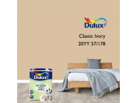 LittleThingy 20YY 57/178 Classic Ivory 5L Dulux Pentalite Interior Wall & Ceiling Smooth Matt Finish Indoor Mix Paint Cat Dinding