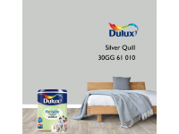 LittleThingy 30GG 61/010 Silver Quill 5L Dulux Pentalite Interior Wall & Ceiling Smooth Matt Finish Indoor Mix Paint Cat Dinding
