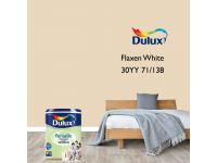 LittleThingy 30YY 71/138 Flaxen White 5L Dulux Pentalite Interior Wall & Ceiling Smooth Matt Finish Indoor Mix Paint Cat Dinding