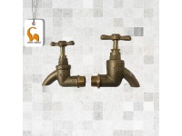 1/2 Inch City Heavy Duty Brass Bib Water Tap Faucet Home Kitchen Bathroom Office Restaurant LittleThingy