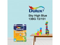 13BG 72/151 Sky High Blue 5L Dulux Easy Clean Interior Ceiling & Wall Paint Water Based Matt Finish Cat Dinding Senang Cuci LittleThingy